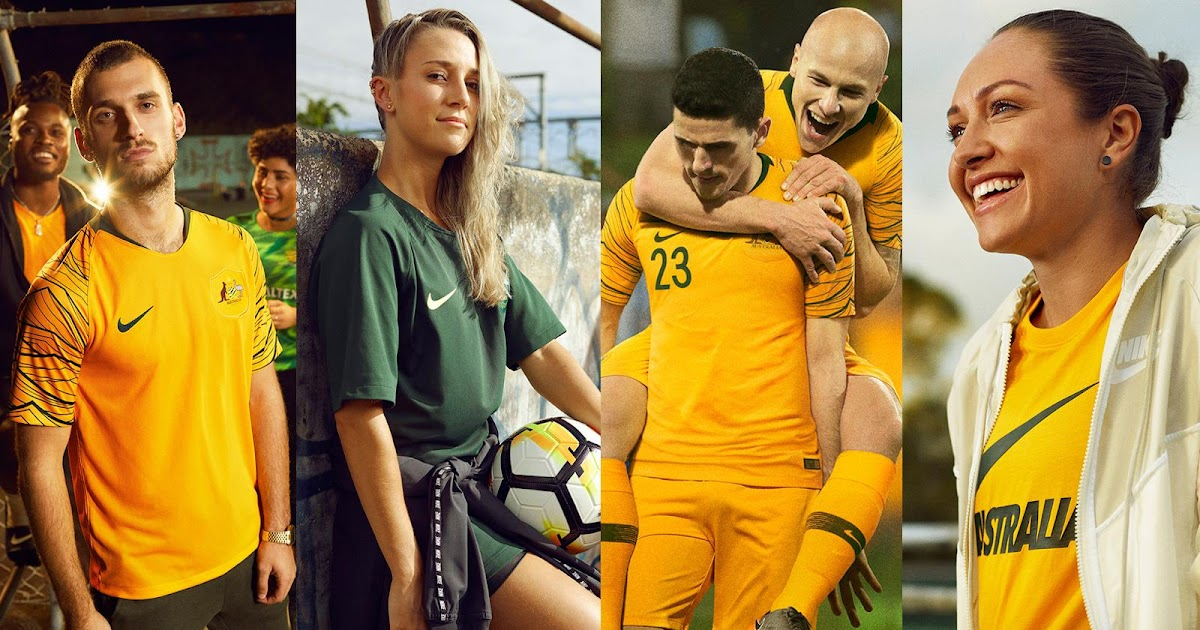 f8184dfc8a2 Australia 2018 World Cup Home and Away Kits + Pre-Match Jersey Revealed