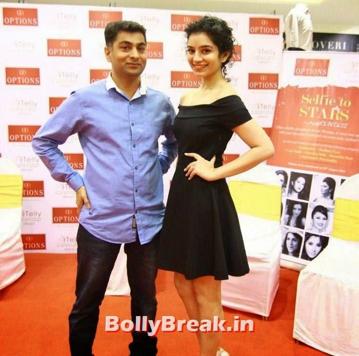 Sukirti Kandpal, TV Actresses Visit Option's Mall