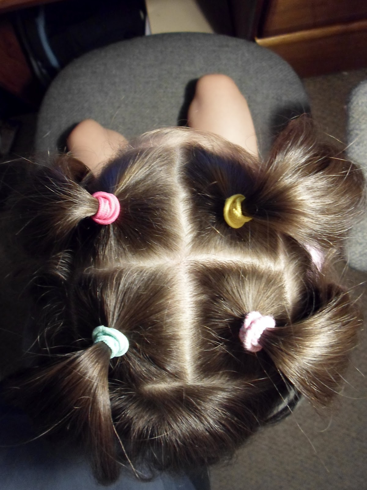 The Hair Band Criss Cross Step Ponies With Ribbon