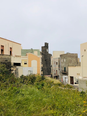 View of buildings in Pantelleria center.