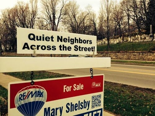 realistic realtors land sales sign funny by graveyard