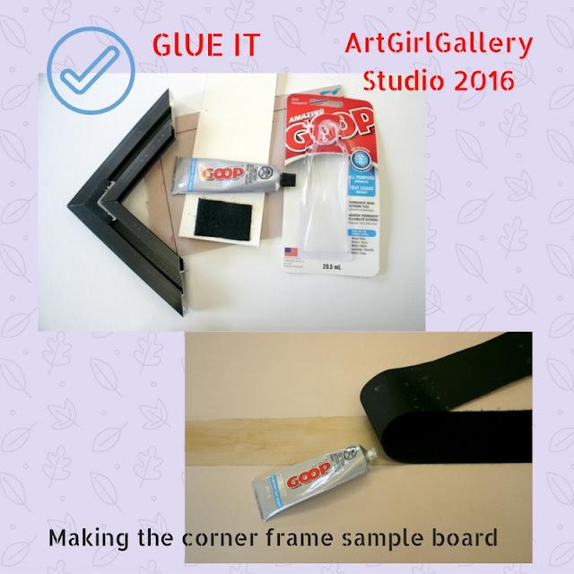 Making Corner Frame Sample display.