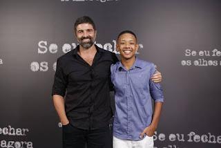 Carlos Manga Jr. (diretor) e João Gabriel D'Aleluia (interpeta Paulo)