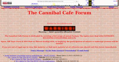Situs Terlarang Mengerikan di Dunia -Cannibal Cafe