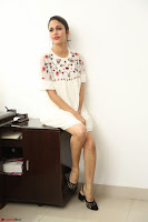 Lavanya Tripathi in Summer Style Spicy Short White Dress at her Interview  Exclusive 135.JPG