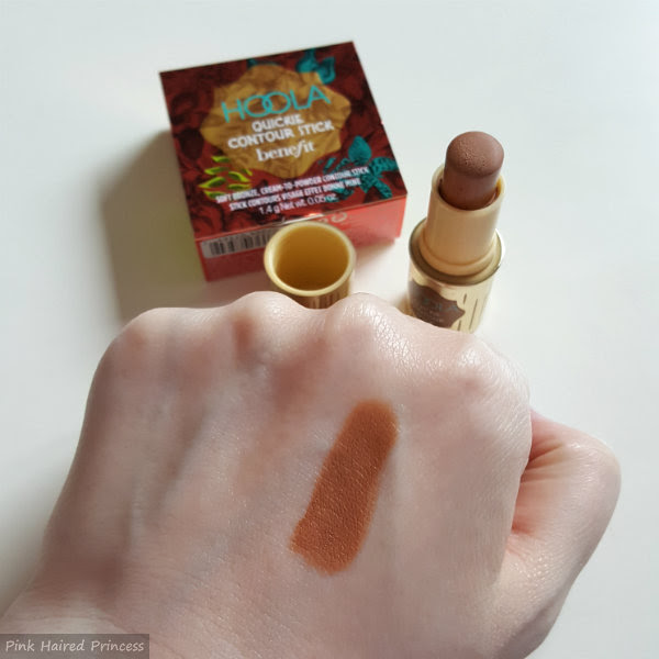 BeneFit Hoola Quickie Contour Stick swatch on pale skin