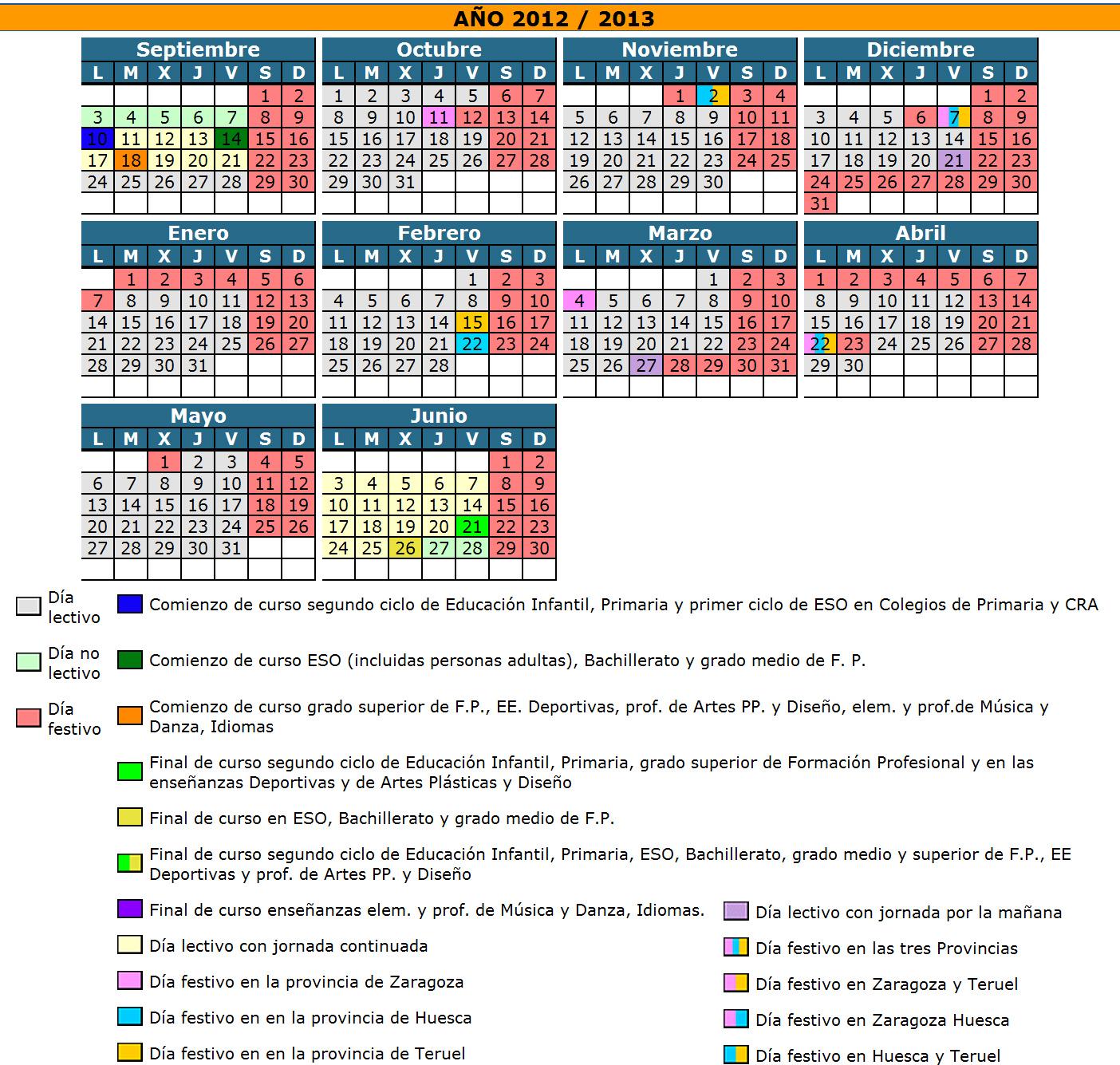 Aragon Calendario Escolar.Profesor De Eso Calendario Escolar De Aragon Para El Curso