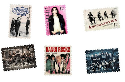 Hanoi rocks, apocalyptic, the rasmus, him ja children of bodom postimerkissä