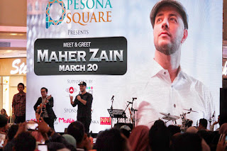 meet and greet Maher Zain di mall pesona square