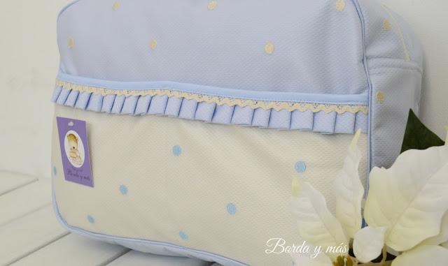 bolso bebe celeste beige