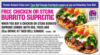 free Taco Bell coupons february 2017