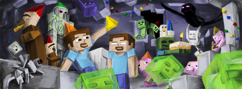 News Arkade: Imagens De Capa Para Seu Facebook De Minecraft