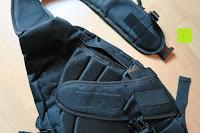 Gurt auf: Lalawow Sling Bag taktisch Rucksack Daypack Fahrradrucksack Umhängetasche Schultertasche Crossbody Bag