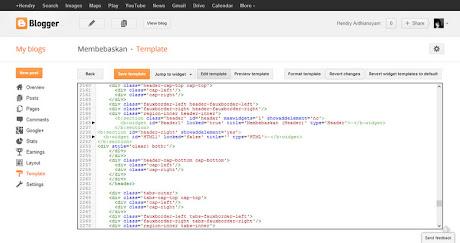 Edit HTML Blogger baru