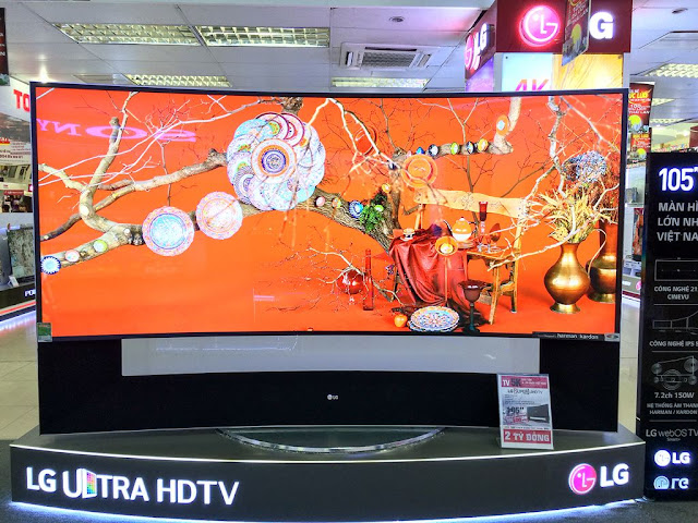 105UC9 của LG là chiếc tivi lớn thứ 4 Thế giới với kích thước là 105inch