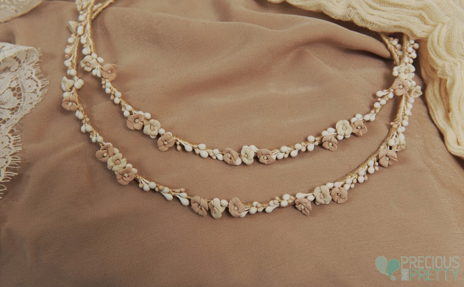Wedding stefana crowns with flowers and lemon blossom