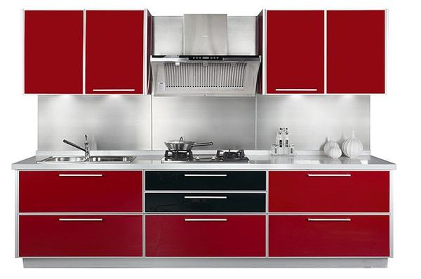 Desain Dapur Modern Warna Merah Rancangan Desain Rumah