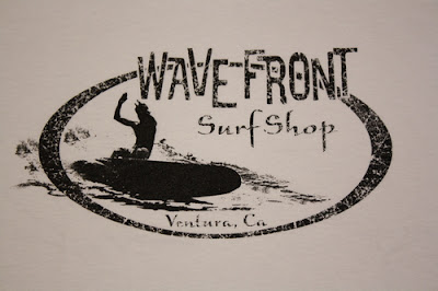 A Wave Front Surf Shop Tee Shirt Design