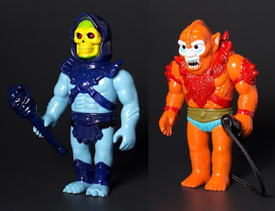 Masters of the Universe Skeletor & Beast Man Vintage Toy Edition Vinyl Figures by Super7