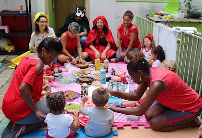 MCTer promove piquenique literário para crianças da creche da CPRM