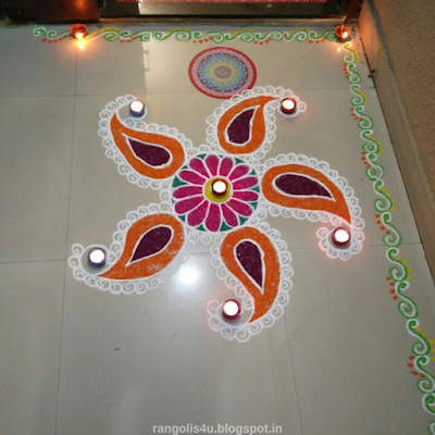 Colorful Deep Jyoti Rangolis