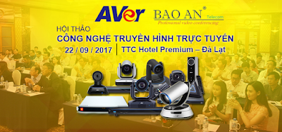 Banner hội thảo về giải pháp hội nghị truyền hình tháng 09/2017