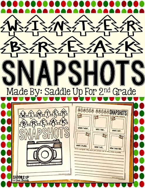 Winter Break Writing by Saddle Up For 2nd Grade