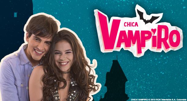 Μετράμε λογότυπα με φτερά.  Chica-vampiro-Cast-Stars-Characters-With-Logo-Nickelodeon-France-RCN-Television