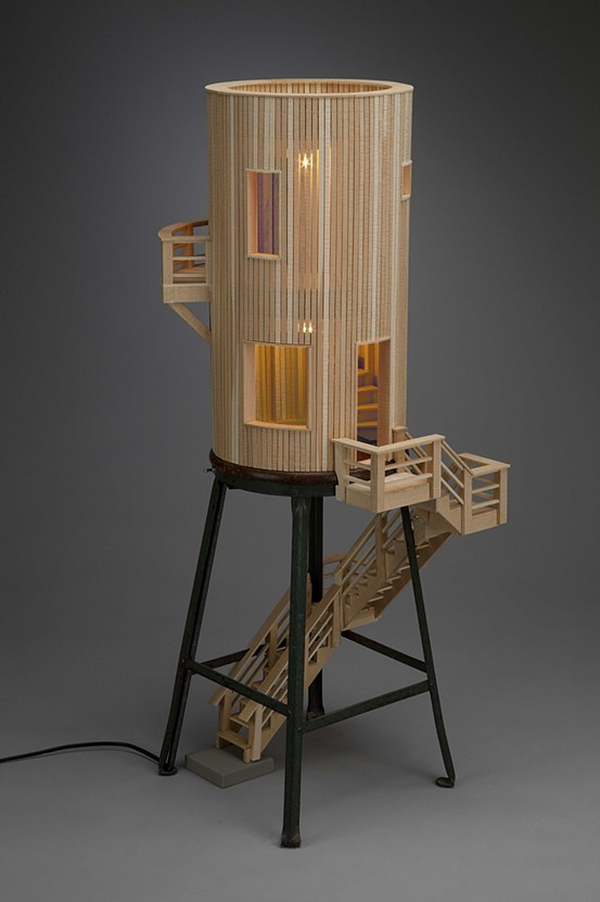 05-Habitation-Ted-Lott-Architecture-in-Upcycled-Furniture-and-Suitcase-Sculptures-www-designstack-co