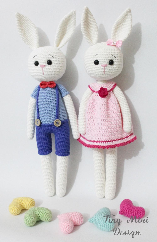 Amigurumi Kolay Oyuncak Tavşan Yapımı