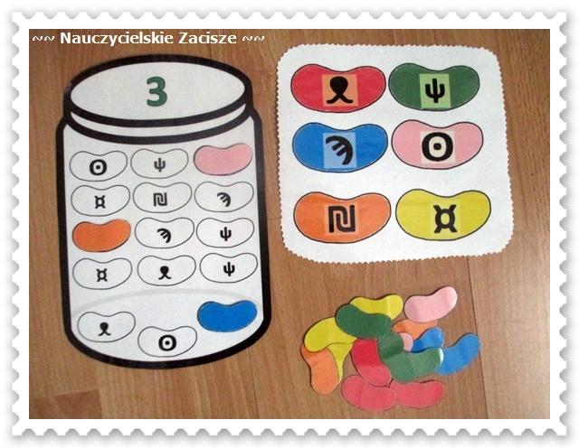 Kolorowe fasolki - dekodowanie, kolory, sprawność manualna