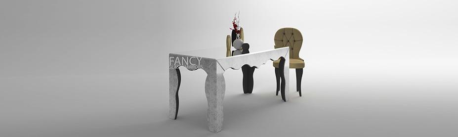 Mirrored dining table taranni