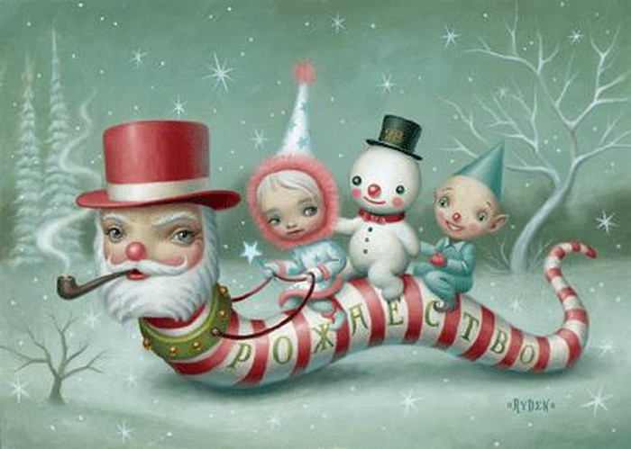 hip christmas cards - Art Christmas Cards