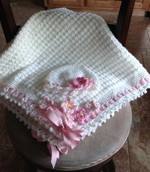 Dainty Textured Baby Blanket Free Pattern