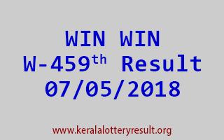 WIN WIN Lottery W 459 Result 07-05-2018