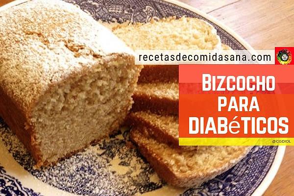 Receta de bizcocho para diabeticos muy fácil de hacer y rápido.