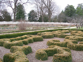 Upper garden at Mount Vernon.
