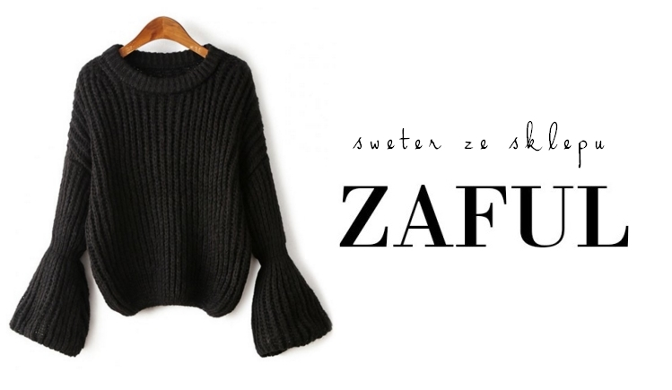 Bell Sleeve Chunky Sweater Zaful