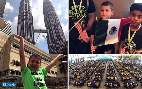 Niño de Chihuahua vence a 900 competidores y se convierte en el gran campeón de Matemáticas