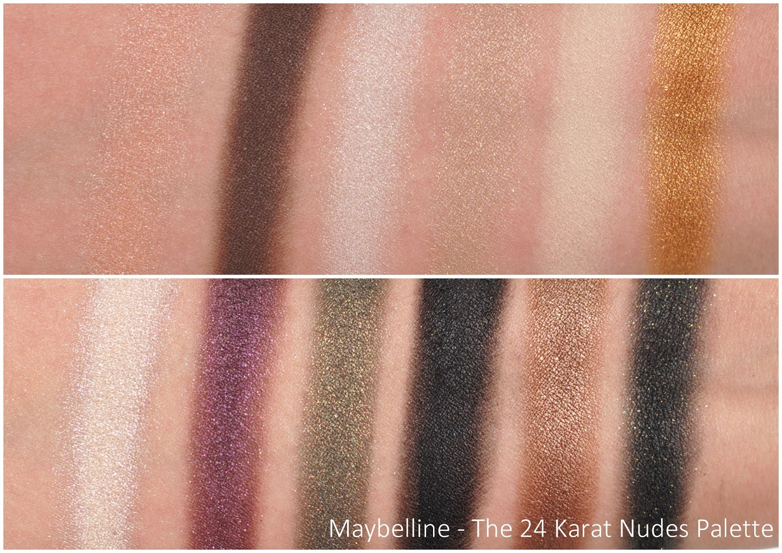 Maybelline 24 Karat Nudes review