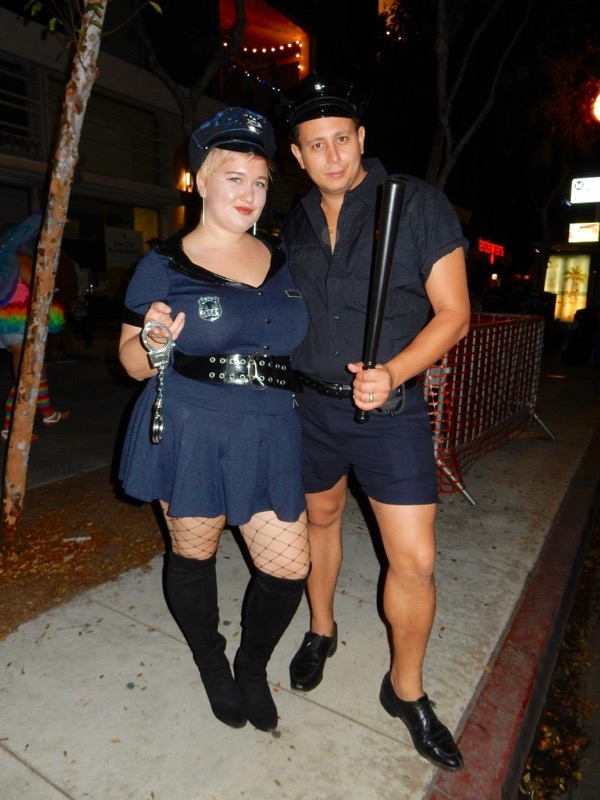 West Hollywood Halloween sexy cops costumes