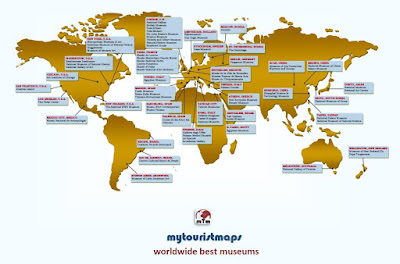 Worldwide best museums map