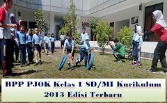 RPP PJOK Kelas 1 SD/MI Kurikulum 2013 Edisi Terbaru