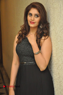 Actress Surabhi Stills in Black Long Dress at turodu Audio Launch  0028.JPG