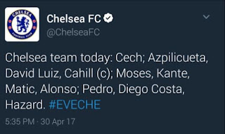 Chelsea Mistakenly Named Cech In Team to Face Everton