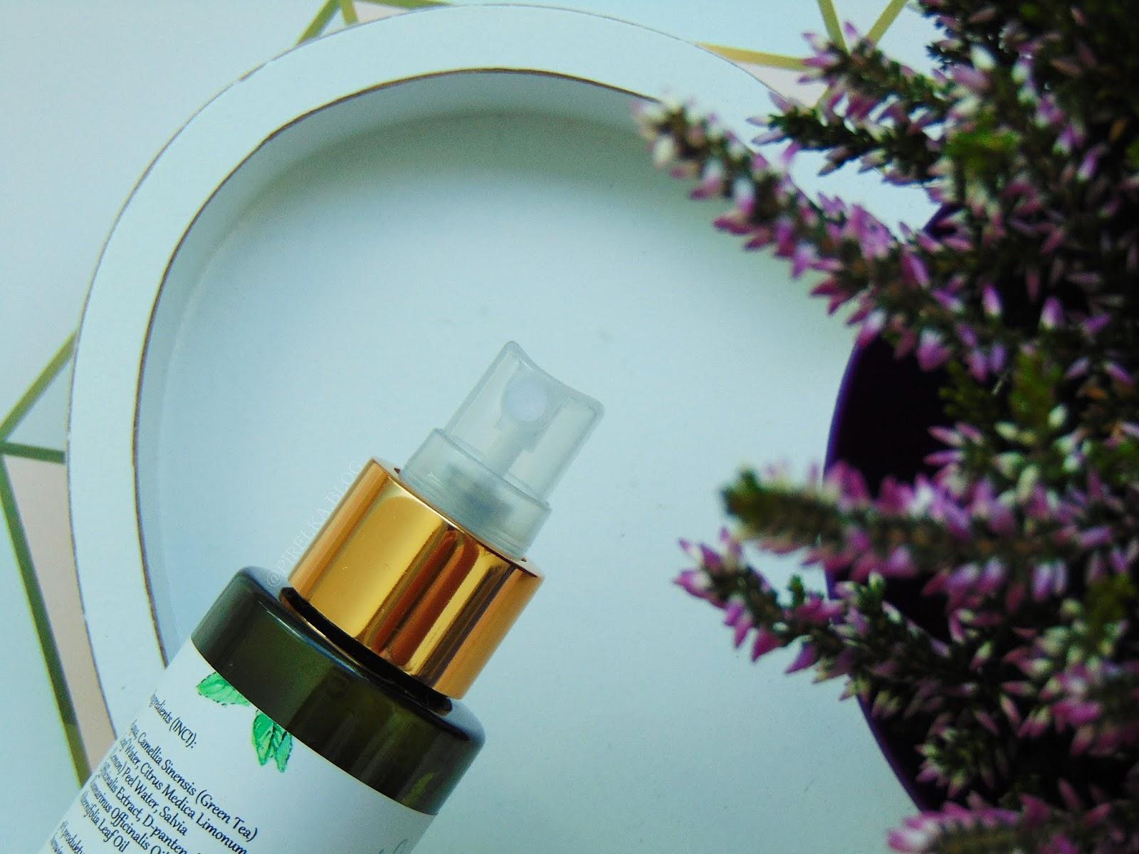 Tonik oczyszczający - zielona herbata i szałwia od Natural Secrets