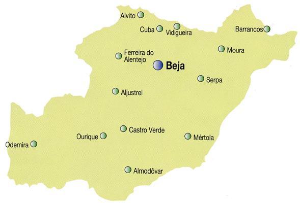 mapa do concelho de beja Beja y Arrabaldes: Mapas de Beja e Arredores mapa do concelho de beja