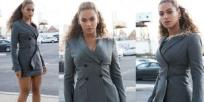Just in case you had any doubt as to whether Bey and Jay Z were the ultimate power couple, let them spell it out a little clearer for you. For an appearance at the Hands of Stone movie premiere last night in New York, the duo took couple dressing to another level by showing up in matching gray power suits.