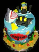 tarta-fondant-buzo-tiburon