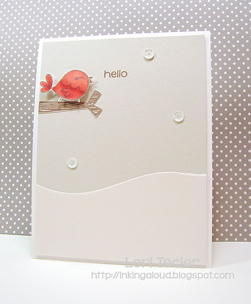 Wintery Hello card-designed by Lori Tecler/Inking Aloud-stamps and dies from Paper Smooches